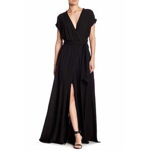NWT Mehgan LA Jasmine Maxi Dress Black Size L